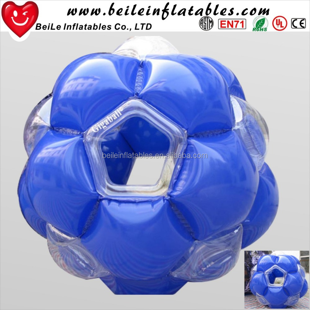 Hot sale transparent and blue Inflatable Giga Ball