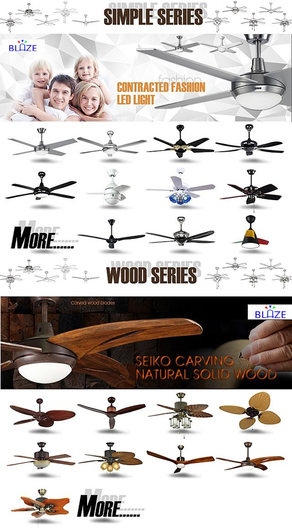 2017 The Most popular crystal woodern blades remote speed controlled ceiling fans