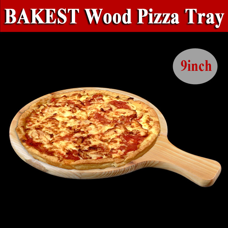 9813 9 inch Round Wooden Pizza Pie Serving Tray Plate Peeler Board with Handle  sc 1 st  Alibaba Wholesale & 9813 9 Inch Round Wooden Pizza Pie Serving Tray Plate Peeler Board ...