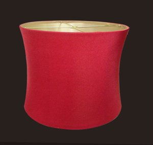 red lampshade for table lamp