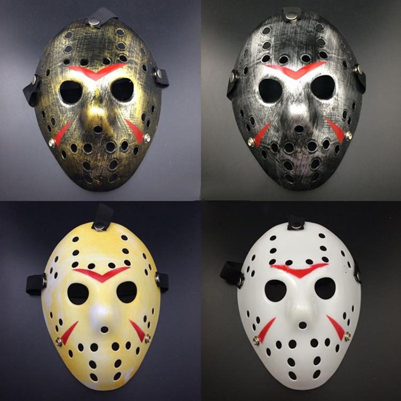 Halloween Hockey Masker.Wholesale Cosplay Party Vintage Halloween Masks Jason Freddy Hockey Mask Delicated Thick Pvc Costume Masquerade Masque With Elastic Band