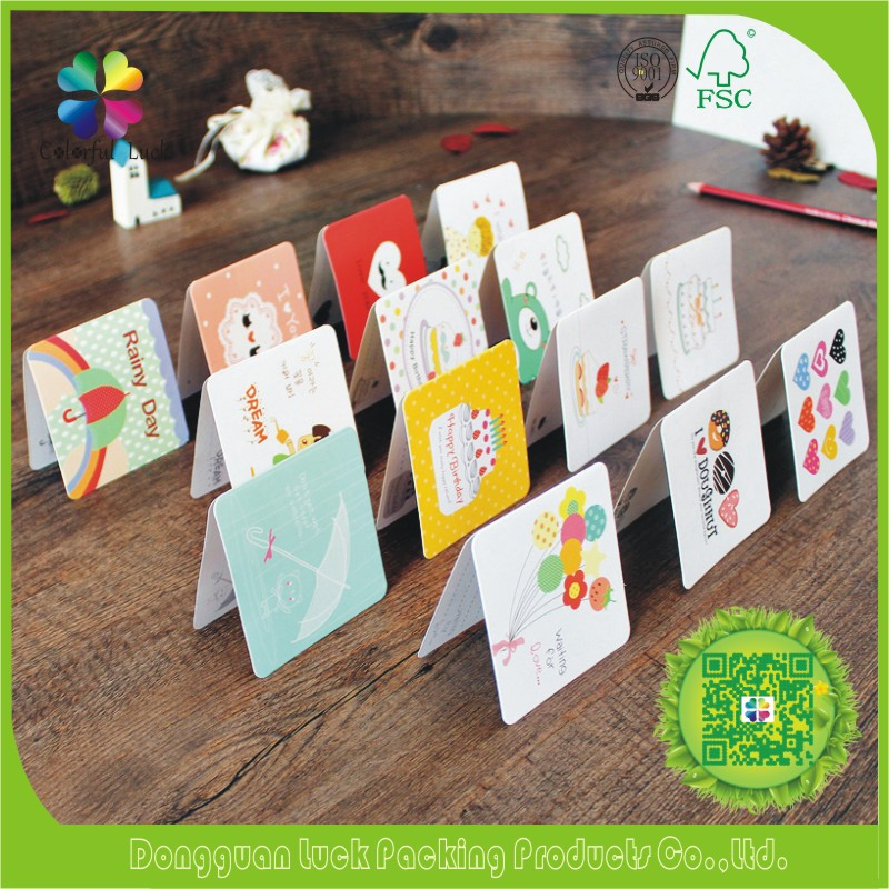 High Quality Hotsale New Design Paper Handmade Thank You Love Cards