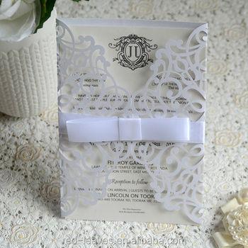 2018 New Design Handmade Wedding Item Vintage Style Paper Invitation Card