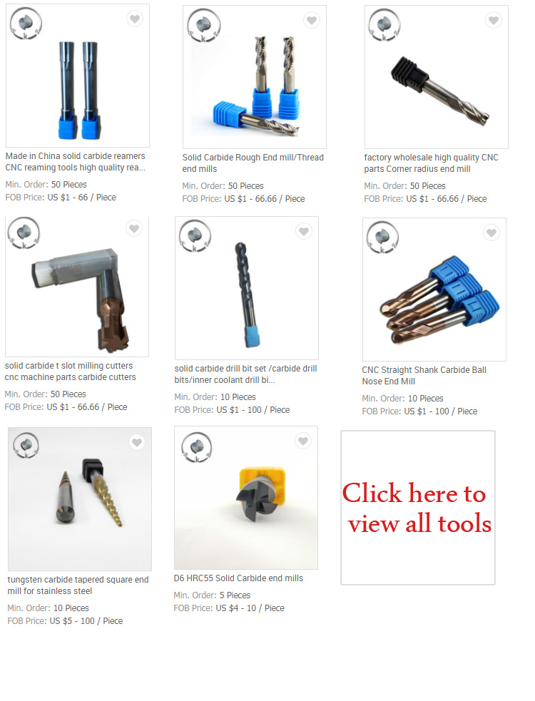 high quality solid carbide end mill/carbide cutting tools/carbide milling cutters