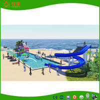 mini water park fiberglass water slide and water house for tourist resort