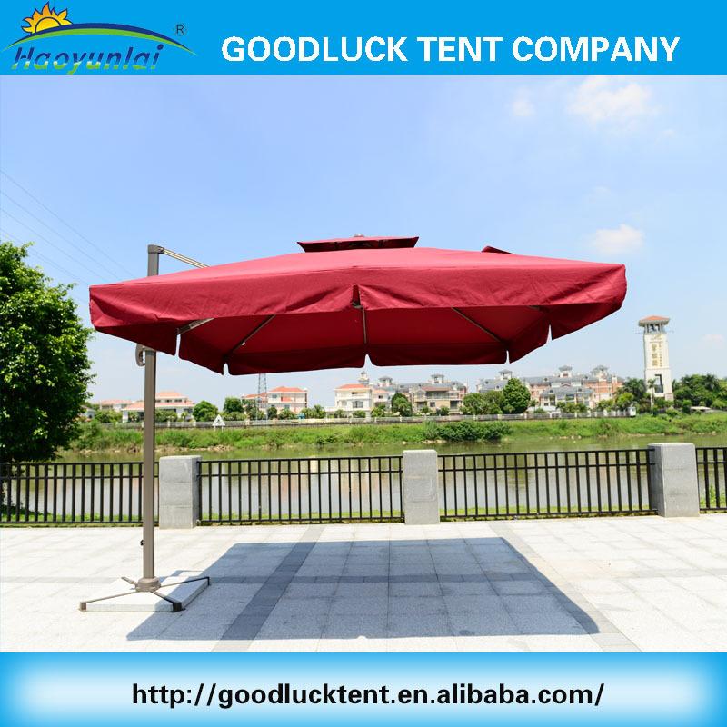 Goedkope outdoor sterke winddicht waterdichte vierkante parasol patio paraplu 39 s en basen product - Tent paraplu ...