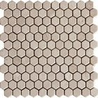 "Crema Marfil Classico 1"" Hexagon Mosaic Tile Tumbled and Honed"