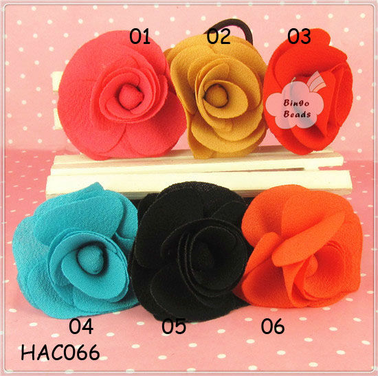 Wholesale Rose Flower Rubber Band Hair Accessories