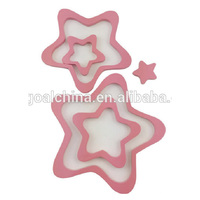 Pink Star DIY wooden Wall art home decoration Wooden crafts home decoration for children