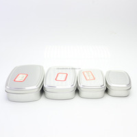square cosmetic jar aluminum can with lid AJ-66N