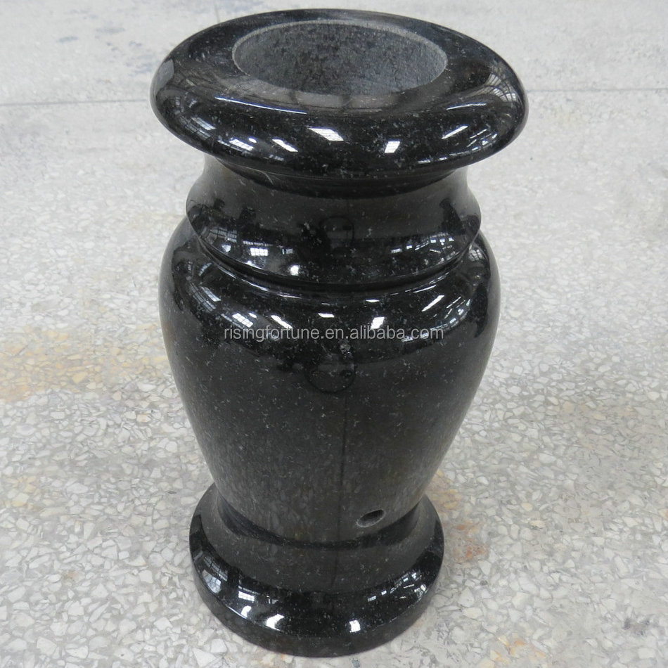 Granite flower vases for headstones and tombstones