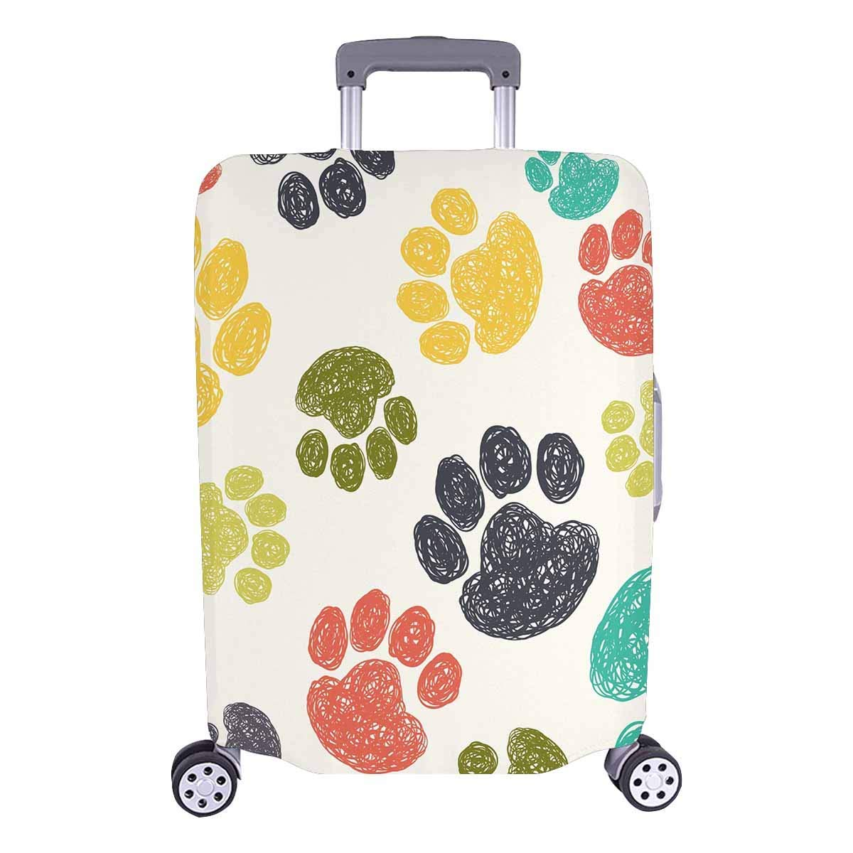 doginthehole Colorful Travel Suitcase Luggage Cover Protector For 18-28 Inch