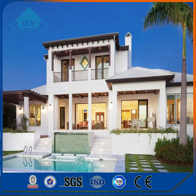 Famous Design Export High Quality Light Steel 3 Bedrooms Prefab Villa House