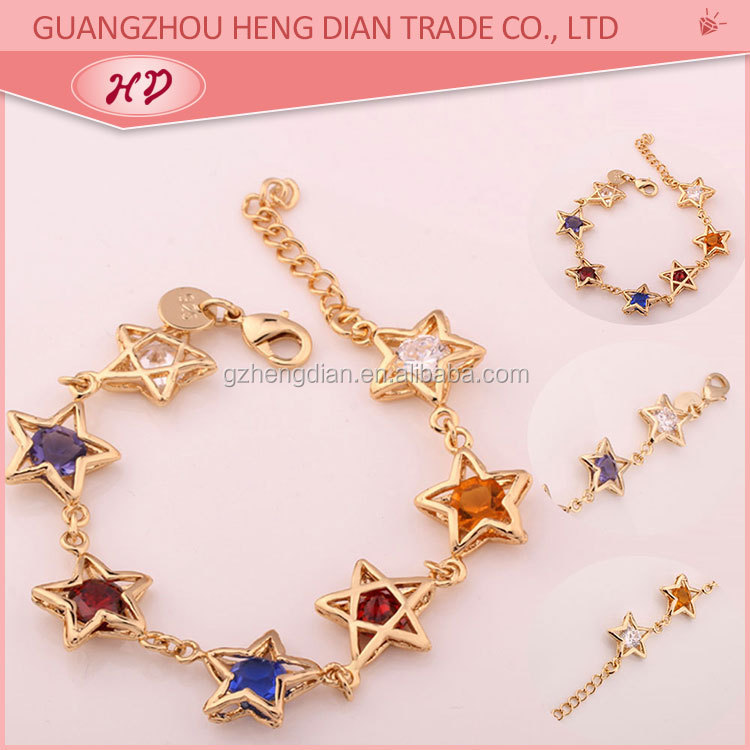 Gold plated 24 carat gold womens fashion gold bracelets design for ...