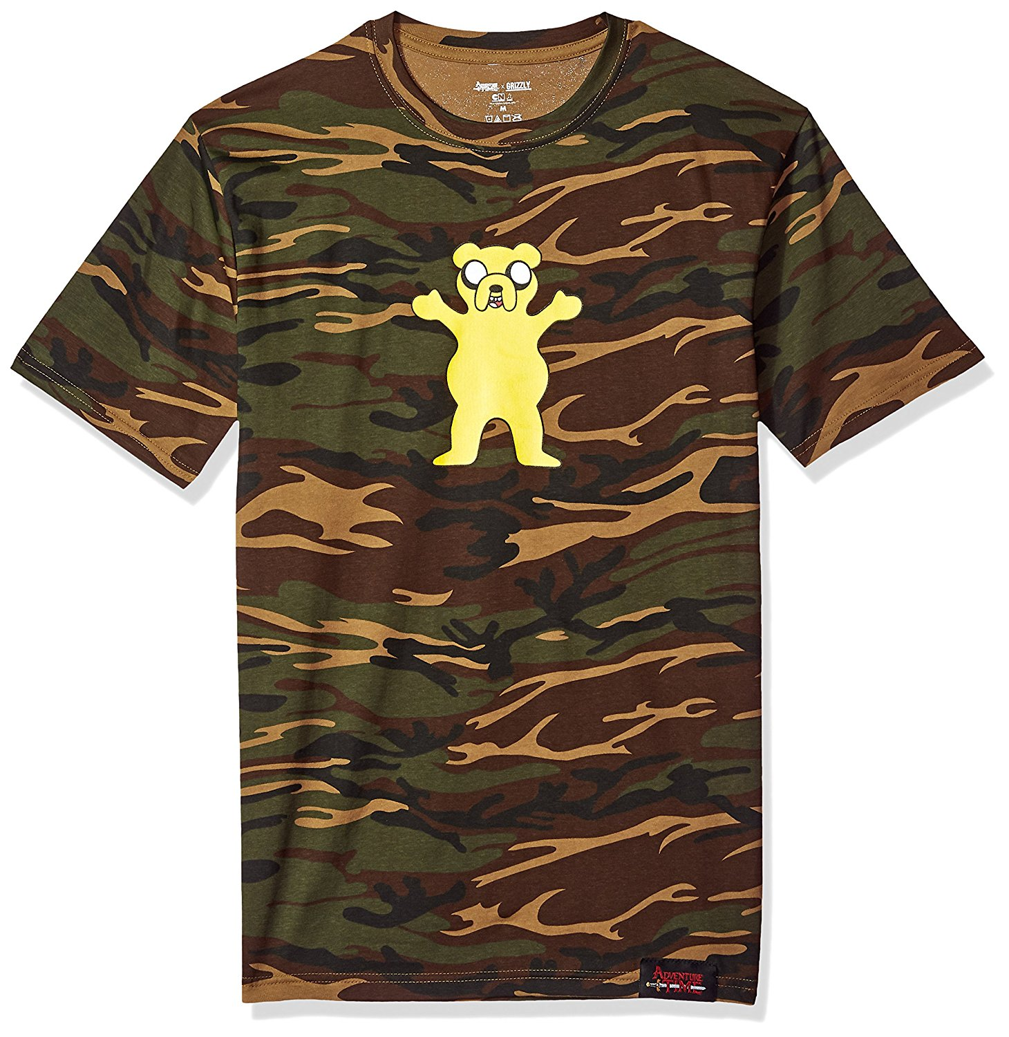 b481d435 Get Quotations · Grizzly Griptape x Adventure Time Homies Help Homies Mens T -Shirt in Camo