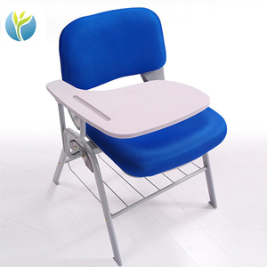 Plastic school chair with folding writing table training chair meeting chair