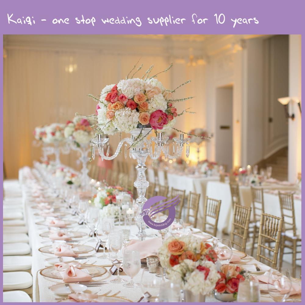K9454 Crystal Wedding Candelabra Centerpieceglass Candelabra