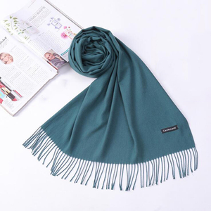 100% cashmere solid color women muslim hijab scarf