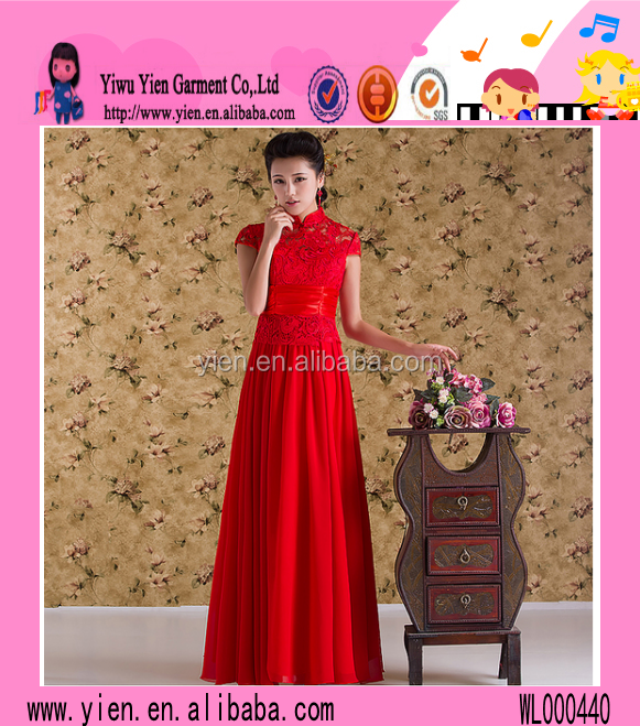 2015 Wholesale Lace Hollow Out Red Party Dress New Arrive Hot Sexy Cheaper Long Ladies Gothic Evening Dress