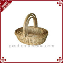 S&D products rattan handmade handle christmas hanging basket
