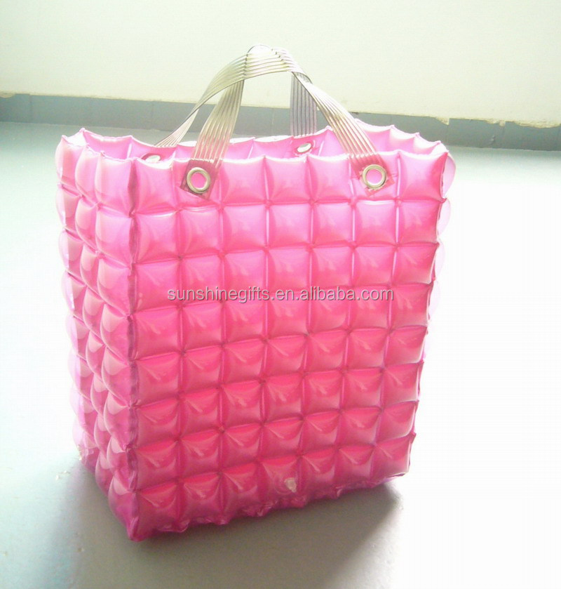 Factory Outlets Transparent PVC Inflatable Beach Bag