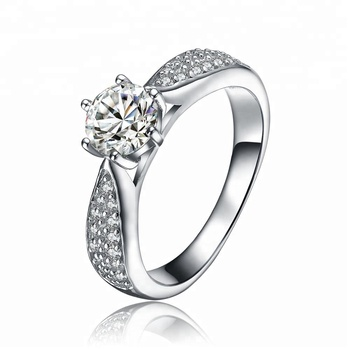 High Quality Jewelry Ring Type Cubic Zirconia Setting S925 Engagement Ring In Stock For wholesale