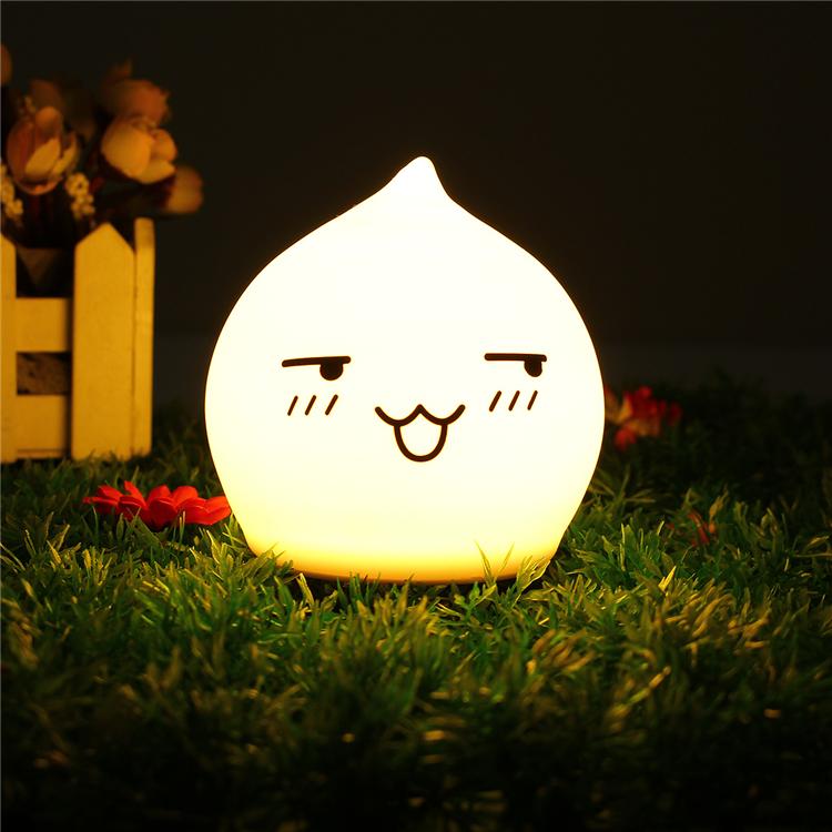 LED Light Silicone Waterdrop LED Children Night Light  Decoration Usage Baby Sleep  Night  Light