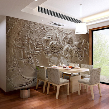 Embossed Wallpaper 3d Interior Decorations Home Wall Mural