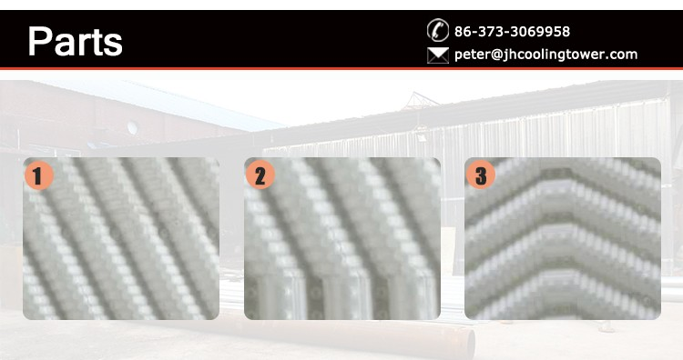 12mm 19mm pitch pvc fills packing for cooling tower