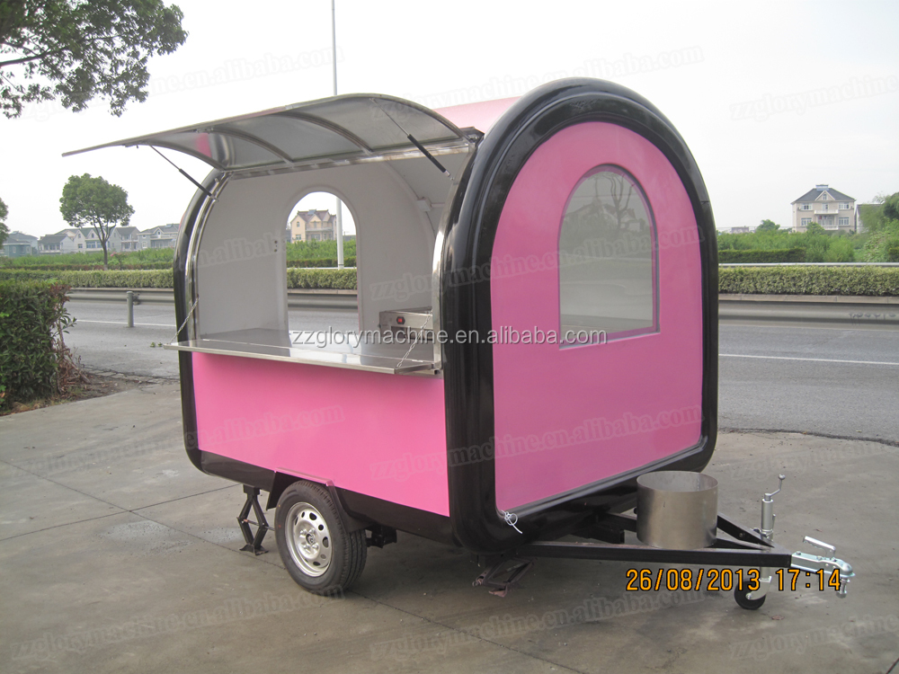 New design commercial potato chips cart trailer made in China