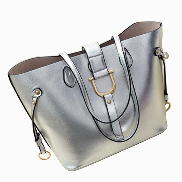 China Manufacture Costomized 2in1 pu leather fashion lady designer women bags