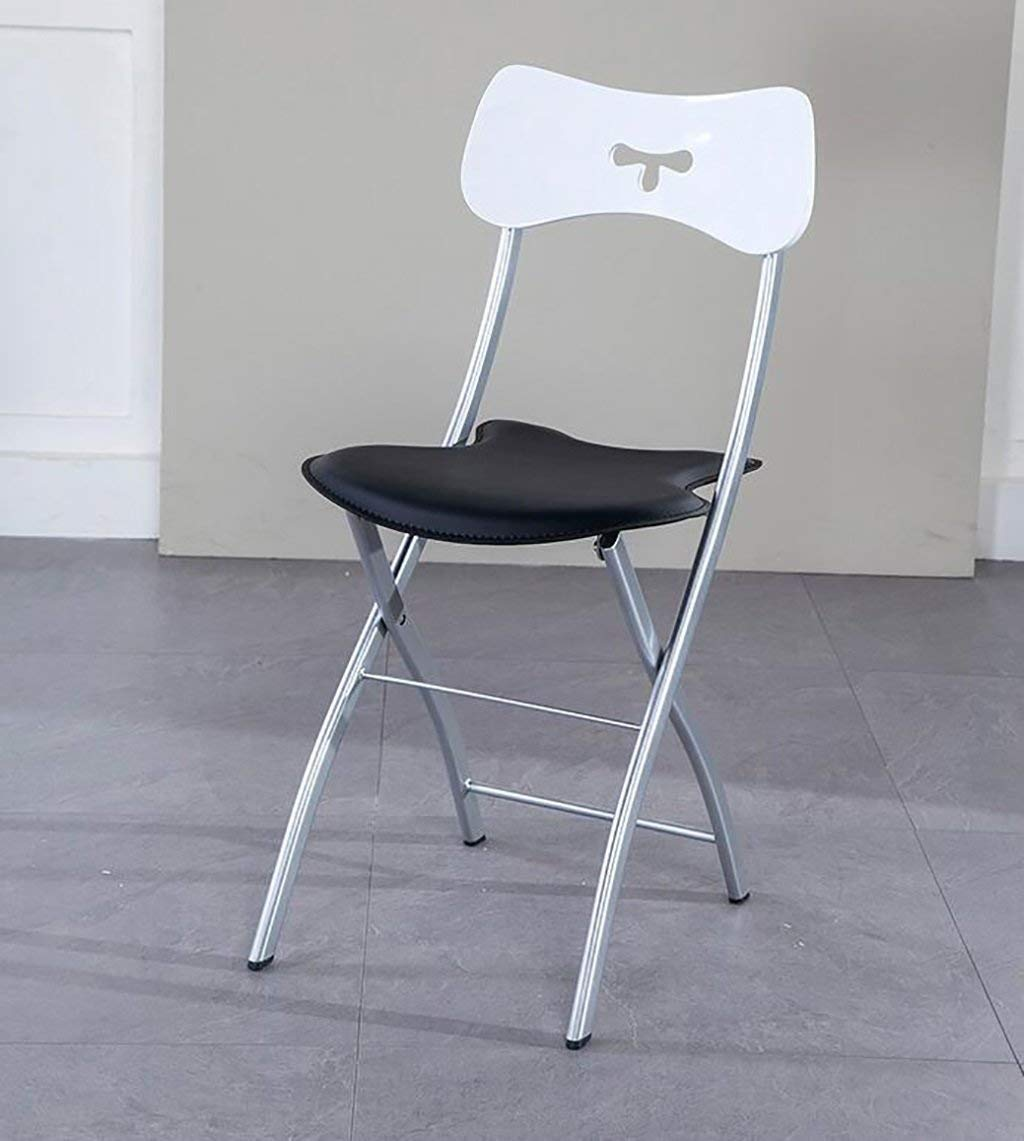 foldupchairs Modern creative home adult adult back folding chair Nordic simple portable dining chair (Size: 41 47 85cm) Folding Chairs