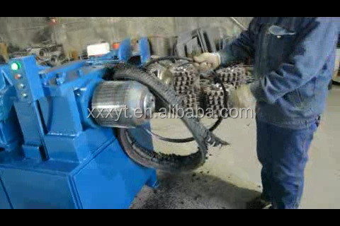 Waste tire steel cord wire scrap recycling machine used for Scrap tractor tires