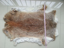 Factory wholesale tanned rabbit skins