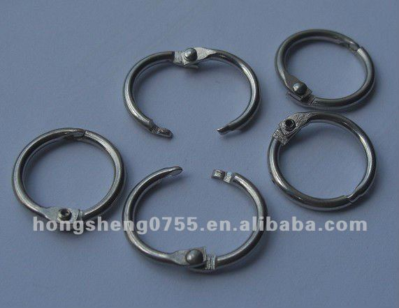 Manufacturer Metal Hinged binder ring for book