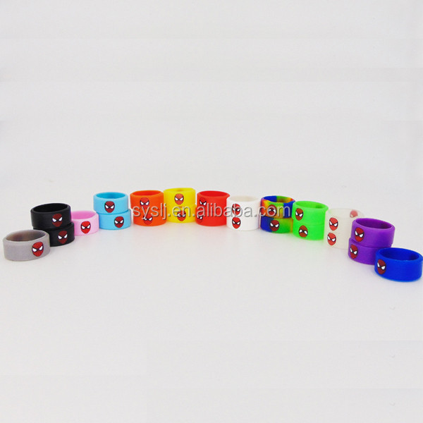 Vape Band Glow In The Dark FDA Non-slip Ecig Silicone Custom Vape Band Ring From shuyuan
