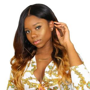 LSY wet and wavy sew in 100 percent human hair two tone ombre colored hair weave