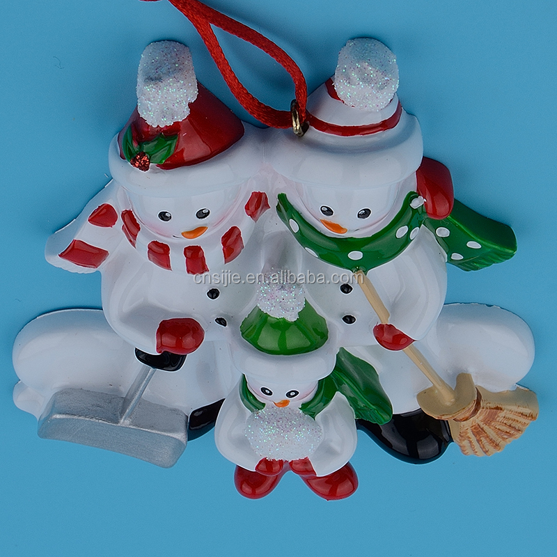 Festival decoration resin craft personalized xmas ornaments christmas