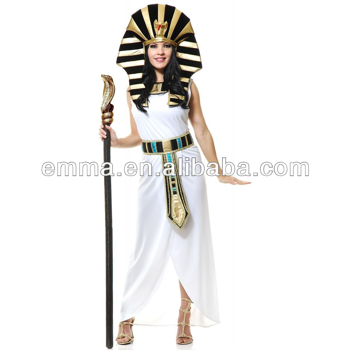 cleopatra costume adult egyptian goddess halloween fancy