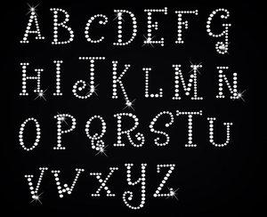 wholesale custom greek rhinestone letters hotfix rhinestone wholesale iron  on letter appliques