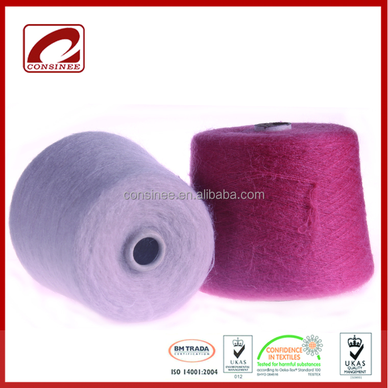Top Line fashion brand choose mohair wool blend yarn mohair