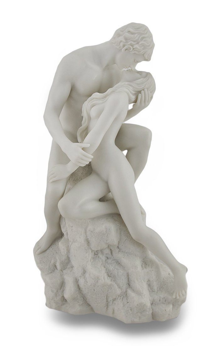 White Marble Finish The Lovers Statue Nude Sculpture