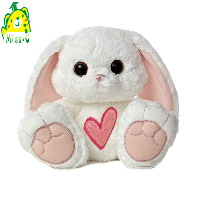 Accept odm Oem long super soft plush Big eys rabbit cuddly toy with long hanging bunny ears