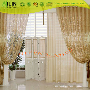 2018 new style eyelets top jacquard organza curtain sheer curtain
