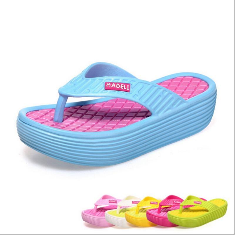 2f03d00b35f1 Get Quotations · Leisure Summer Women s Flip-Flop Sandals Platform Flip  Flops Slippers Sandals Swing Wedges Women Hole