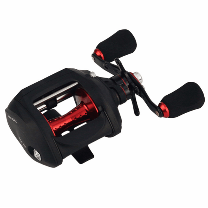 2018New Right Left Baitcasting Reel 12 +1BB 7.0:1 Bait Casting Fishing Reel, Black+red