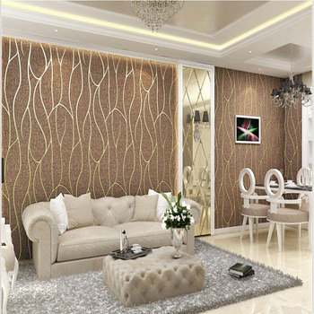 Suede Fabric Pvc Velvet Wall Covering 3d Wallpaper For Home