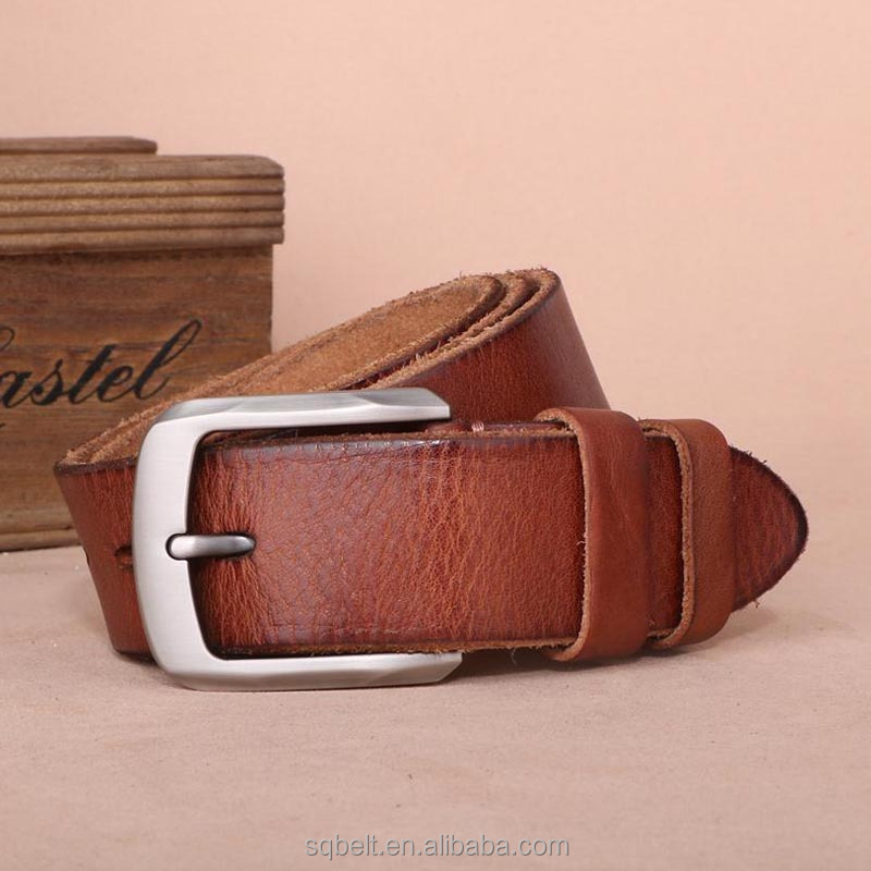 best sell wholesale men classic pure cow genuine leather belts with removable buckle