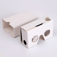 Best selling custom hd virtual 2nd google cardboard vr glasses 3d vr box for 3d glasses cardboard video japanese