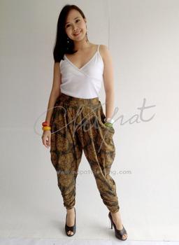 86d439591 Women fashion pencil pants Harem Rayon Ladies Trouser with Art Printed